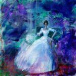 Irène posant pour un photographe le soir de son mariage vers 22h15 50 cm x 50 cm 2013