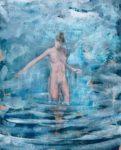 Aiko sortant de l'eau 41 cm x 33 cm 2013