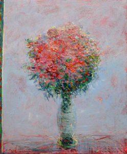 Je t'ai laissé un bouquet d'espoir ce matin vers 7h20 50 cm x 40 cm 2013