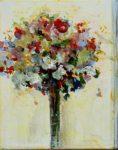 Ton bouquet vers 17h15 quand tu lisais un poème de Népomucène.L 41 cm x 33 cm 2013