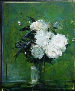 Quelques fleurs pour mon père 46 cm x 38 cm 2013