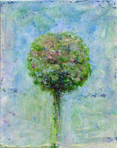 Ton bouquet dans le vent bleu vers 9h10 41 cm x 33 cm 2013
