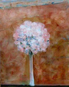 Ton bouquet écoutant Lully, la marche pour la cérémonie des Turcs 81 cm x 60 cm 2013