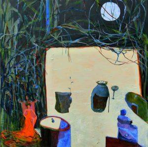 Dans l'atelier de Marina , la nuit vers 1h20 80 cm x 80 cm 2013