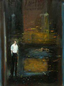 Dans l'atelier de John, la nuit vers 23h40 61 cm x 46 cm 2013