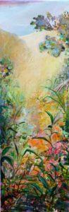 Colin-maillard, Quand en cherchant tu murmurais  Belle épousée, J'aime tes pleurs C'est la rosée qui sied aux fleurs. 90 cm x 30 cm 2013