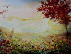 """""""Colin-maillard, et moi je ne vois rien quand je ne la vois pas"""" 116 cm x 89 cm 2013"""