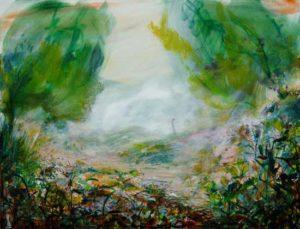 """Colin-maillard, seras tu aussi douce que ces parois de brume"" 116 cm x 89 cm 2013"