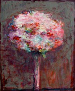 """Il est ainsi des soirs faits de couleurs qui flottent"""", ton bouquet vers 22h40 46 cm x 38 cm 2013"""