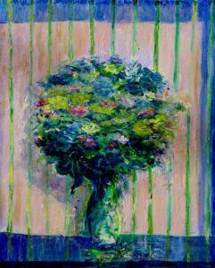 Quand un après-midi ton bouquet te parlait de peinture 46 cm x 38 cm 2013