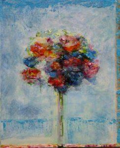 Ton bouquet écoutait l'hiver se taire 46 cm x 38 cm 2013
