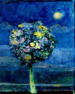 Ton bouquet une nuit, dans nos lumières secrètes 46 cm x 38 cm 2013