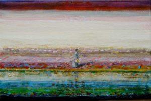 Julie, après la répétition en fin d'après-midi huile sur toile 24 cm x 16 cm 2013