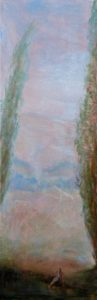Nymphe succombant au charme d'un Satyre 20 cm x 60 cm 2014