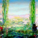 Diane surprise par Actéon 80 cm x 80 cm 2014