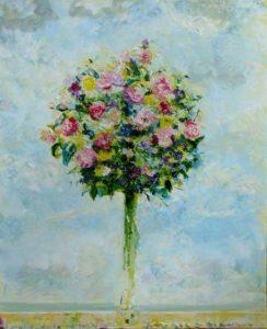Ton bouquet à Cabourg, un après midi vers 16h 46 cm x 38 cm 2014