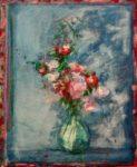 Le bouquet peint par Maryvonne, un matin vers 8h30 61 cm x 50 cm 2014