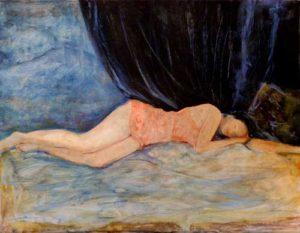 Luisa un soir 35 cm x 27 cm 2014