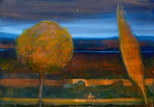 Castor, une nuit 100 cm x 73 cm 2014
