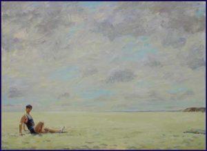 L'instant précis où Eve me dit: François Lève toi j'ai l'impression que la mer a disparu 73 cm x 54 cm 2014