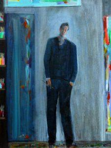 Alberto dans son atelier un matin vers 6h40 46 cm x 61 cm 2014
