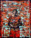 L'instant précis où Emilio arrivant devant la grande glace du hall de l'hôtel Moresco se demanda: Mais comment lui offrir cette image là? 100 cm x 81 cm 2014