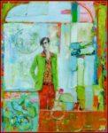 L'instant précis où Raphaël attendait Camille devant le grand miroir de l'hôtel Eden Palace 100 cm x 81 cm 2014