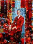 L'instant précis où Edgar commanda un Balvenie dans le salon du Waldorf Astoria 81 cm x 60 cm 2014