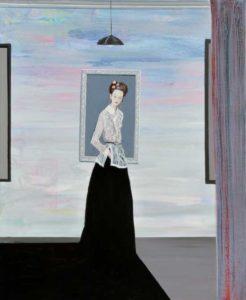 L'instant précis où Setsuko me dit  pour une fois faites preuve d'originalité et peignez quelque chose de différent de tout ce que l'on peut voir dans ces galeries parisiennes 61 cm x 50 cm 2014