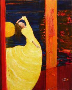 Dans l'atelier d'Irena une nuit 100cm x 81cm 2014 huile sur toile 100 cm x 81 cm 2014