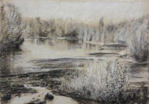 Étude de Loire- Craie sur papier 42 cm x 30cm
