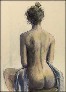 Clara Fusain peinture acrylique papier 20cm x 30cm