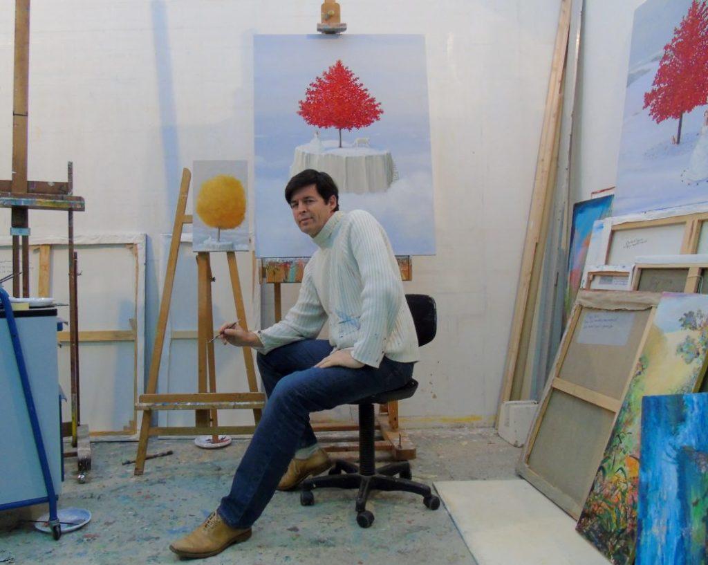 François Pagé dans son atelier