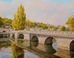 Les hommes construisent trop de murs et pas assez de ponts. Même si à l'abri des regards Marie embrassa pour la première fois Victor sous le quai du pont Joubert à Poitiers, la lumière soudaine douce et diffuse pouvait-elle à elle seule être définie comme un événement . - 100cm x 81cm - 2018