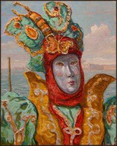 Quand cette nuit votre masque tombera monsieur Papillon, votre amour sera-t-il aussi éphémère que vos ailes au ton vert Véronèse ? - 41cm x 33cm - 2019