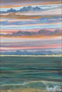 Au moment où il y eut une éclaircie sur la longue plage de dunes, le ciel se mit à prendre l'apparence d'un ciel Italien, un peu comme ceux peints par Tiepolo. Venise en pays Bigouden quel transport ! - 33cm x 24cm - 2019