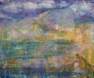 Hypnotique le regard entre Anubis et Calypso, même les nuages trébuchaient. - 55cm x 46cm - 2019