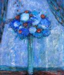 C'était l'heure bleue sur ton bouquet, la mer aussi au loin jouait la symphonie. - 55cm x 24cm - 2020
