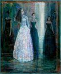 L'instant précis où Irina me dit : «Mais François venez donc danser, vous savez la robe que vous m'avez dessinée fait vraiment sensation.» 65cm x54cm  2014