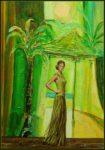 Anita posant dans l'atelier de Vincent   46cm x 33cm 2015