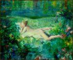 L'instant précis où Clarisse me dit : Vous savez La peinture de François Boucher ce n'est pas trop mon truc  41cm x 33cm 2015
