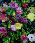 Je vois ton œil ! Allez, sors de ce massif de fleurs et rentre à la maison. 55cm x 46cm 2016