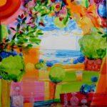 Le jardin de lally 100cm x 100cm 2016