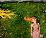 Pour Adèle, le bonheur n'existait-il que par son désir? 65cm x 54cm 2017