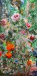 Et tes lèvres tremblantes comme ces fleurs...  60 cm x 30 cm 2017