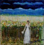 On se remariera, au grès des vents portants et pour invités un grand champ de blé, un autre fleuri aussi, nous aurons l'amour, la vie, à découvrir, nous aurons l'amour, la vie, à découvert.  20cm x 20cm 2017