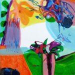 Jardin de Delfina 80 cm x 80 cm 2009