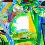 Jardin d'Elara 100 cm x 100 cm 2009