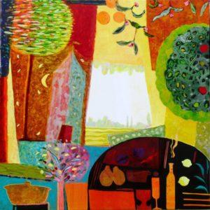 Jardin d'Erasme 120 cm x 120 cm 2010