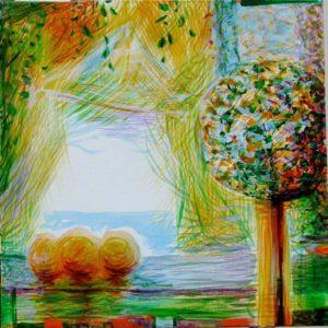 Jardin d'Esalie 40 cm x 40 cm 2010